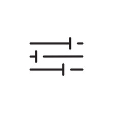 Modern Filter Icon Vector In Line Style