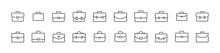 Premium Pack Of Briefcase Line Icons.