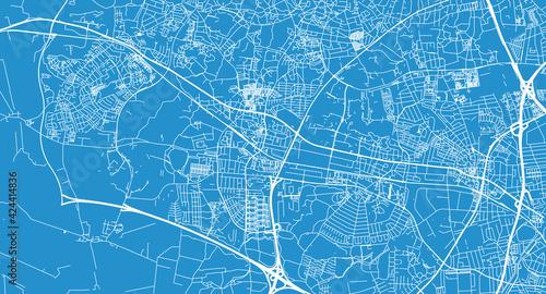 Fotografia Urban vector city map of Ballerup, Denmark