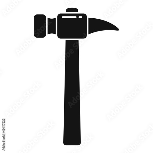 Fototapeta Home hammer icon, simple style