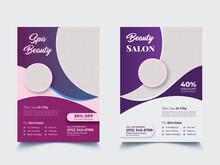 Beauty Salon Flyer, Hair Salon Flyer, Spa Salon Flyer, Hairdresser Flyer, Beauty Cosmetics Flyer, Spa Center, Beauty Center, Print Ready Editable Template Brochure Cover Design