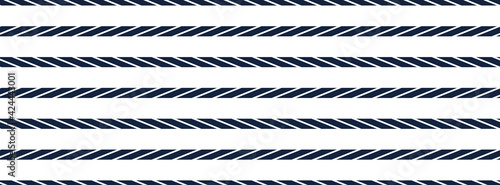 Naklejka premium Are these lines parallel and horizontal, yes they are. Classic optical illusion made as seamless pattern, vector design image.