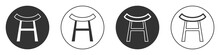 Black Japan Gate Icon Isolated On White Background. Torii Gate Sign. Japanese Traditional Classic Gate Symbol. Circle Button. Vector