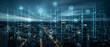 canvas print picture - Digitale Infrastruktur in einer Großstadt