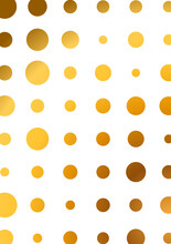 Abstract White Background Textured With Gold Halftone Pattern. Creative Cover Design Template. Vector