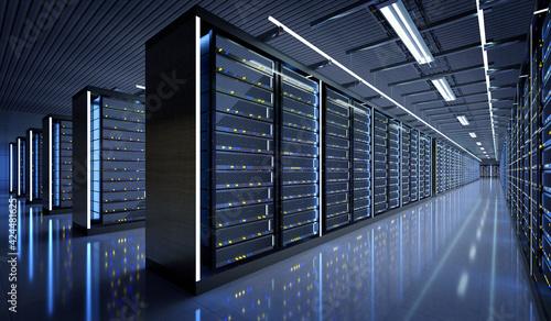 Fotografia Server room data center - 3d rendering