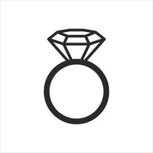 Vector Diamond Ring Two Gold Rings Are Related On The Day Of The Wedding.