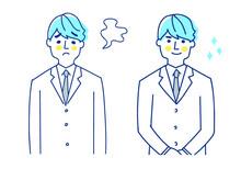 ビジネスマン 表情2パターン