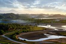 Aerial View Of Landscape By Mandalika Circuit, Lombok, West Nusa Tenggara, Indonesia
