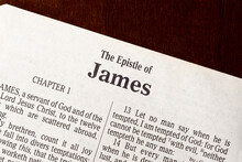 The Book Of James Title Page Close-up