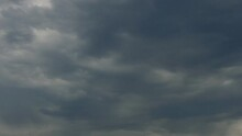 4K Time Laapse Of Grey Deck Of Stratocumulus Clouds