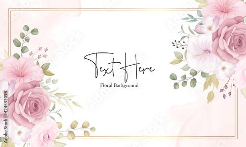 Obraz Beautiful soft floral background with dusty pink flowers - fototapety do salonu