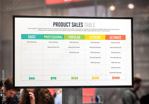 Obraz Product Sales Table and Sales Statement - fototapety do salonu