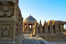 Chaukhandi Tombs. The Chaukhandi Tombs Form An Early Islamic Cemetery Situated 29 Km East Of Karachi, In The Sindh Province Of Pakistan. The Tombs Are Notable For Their Elaborate Sandstone Carvings