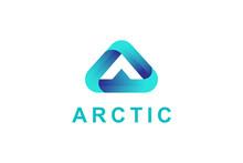 Letter A Triangle Logo Design