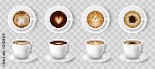 Obraz na plátně White cups of coffee