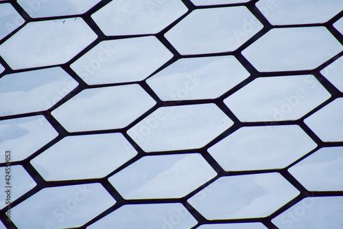 Hexagonos textura metalica reflejante de luz