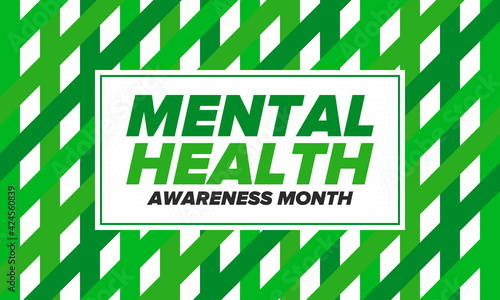 Tablou Canvas Mental Health Awareness Month in May