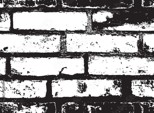 Foto Seamless pattern with old brick wall