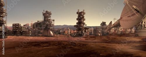 Fotografia, Obraz Human settlement on Mars