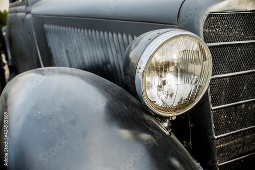 Fotografie, Obraz SEVASTOPOL - FEBRUAR 03: The radiator grille and emblem of Mercedes-Benz  (black