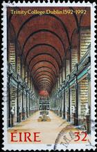 Trinity College Of Dublin On Irish Postage Stamp
