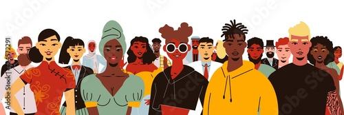 Obraz na plátně Social Diversity People Composition