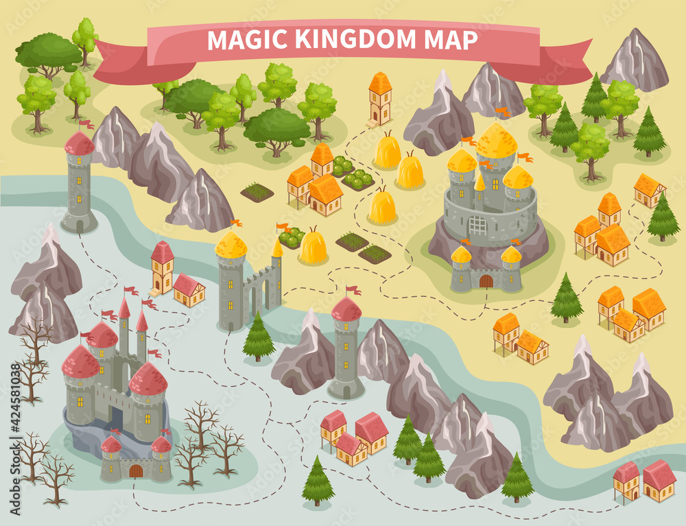 Fototapeta Magic Kingdom Map
