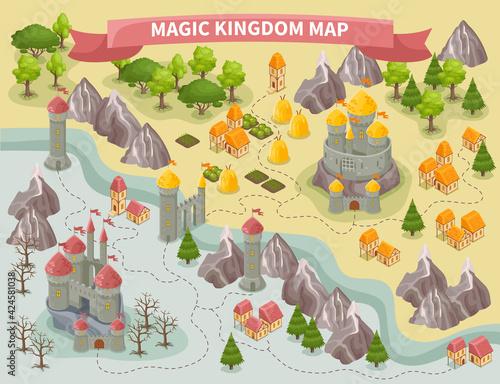 Fotografia Magic Kingdom Map