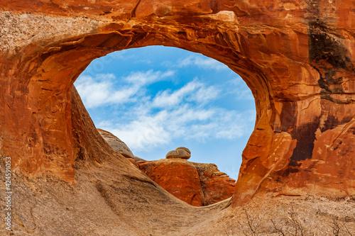 Slika na platnu Utah-Arches National Park-Devils Garden-Tunnel Arch