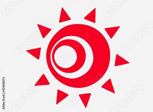 Photo 不気味な赤い太陽