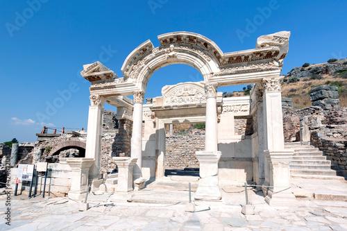 Fotografie, Obraz Ancient ruins in Ephesus Turkey - The Temple of Hadrian.