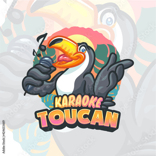 Fototapeta premium Toucan Cartoon Mascot logo template