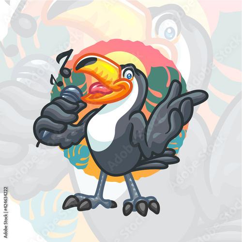 Fototapeta premium Toucan Cartoon Mascot