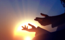 The Preaching Of Jesus, Jesus Hands Reaching Out