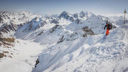verbier, nands, szwajcaria narciarski, narty, zimą, śnieg, narciarz, zabawa,  sport zimowy, alpy, sezon, wakacje, niebo,  nachylenie, podróż zimny, mountainside, ekstremalne,   styl życia, rekreacja l