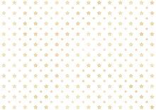 金箔の星模様 パターン 背景イラスト素材(金・白)