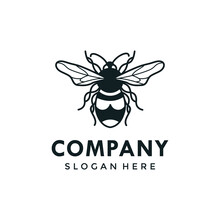 Common Carder Bee Type Bee Logo Template