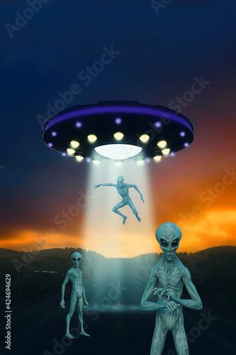 Slika na platnu Alien Invasion Fantasy 3D Illustration