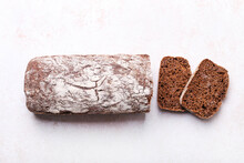 Loaf Of Rye Bread, Cut Into Slices