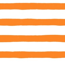 Abstract Painted Lines Seamless Background. Orange Brown Golden Stripes Wavy Brush Stroke Lines Repeating Background. Horizontal Striped Backdrop Texture White Orange. High Quality Photo.