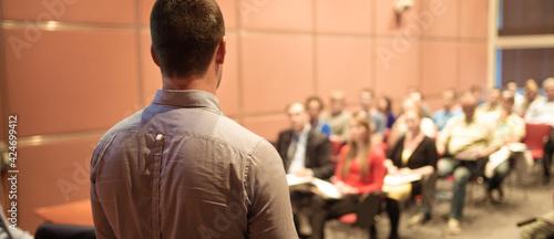 Fotografie, Obraz Public speaker giving talk at Business Event.