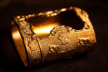 Golden Samurai Sword Scabbard End Cap