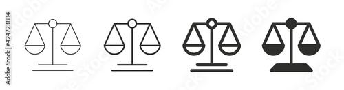 Obraz na plátně Scale icon