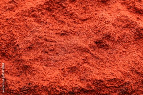 Fototapeta Red chili powder as background obraz