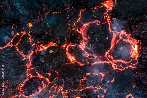 Obraz na plátně fire in the fireplace
