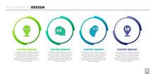 Set Front End Development, UI Or UX Design, And . Business Infographic Template. Vector