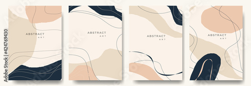 Modern abstract background.minimal trendy style with copy space for text - design templates good for postcards, poster, business card, flyer, brochure, magazine, social media and other. vector eps 10  - fototapety na wymiar