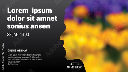 Fotografía Social media event cover template for online webinar