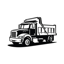 Dump Truck Vector Isolated. Tipper Truck Icon